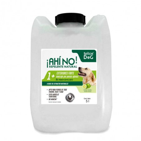Señor Dog ® Nivel 1+ Exteriores FORTE ¡Ahí No! Repelente de perros 5 litros